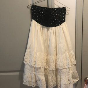 Anthropologie Zehavale ruffle and dot dress